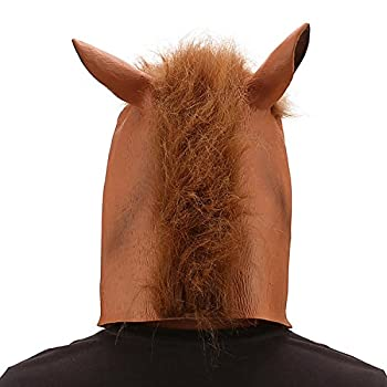 Ylovetoys Latex Horse Head Mask Halloween Costume Animal Masks