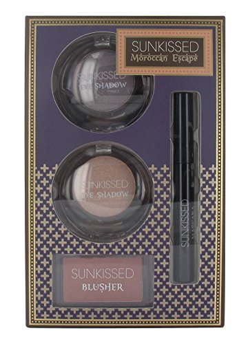 Sunkissed Moroccan Escape Dream Glow Confezione Regalo 2 x 6g Ombretti + 4g Fard + 5.5ml Mascara Ner