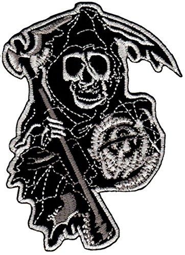 Biker, Chopper Sons of Anarchy MC teschio moto toppa da cucire applicazione Tattoo