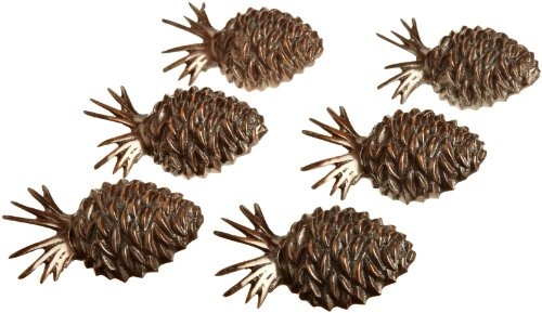 DII Pinecone Lodge Napkin Ring, Set of 6