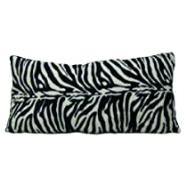 Brunton International Zebra Body Pillow, 18 by 36-Inch, Black/White