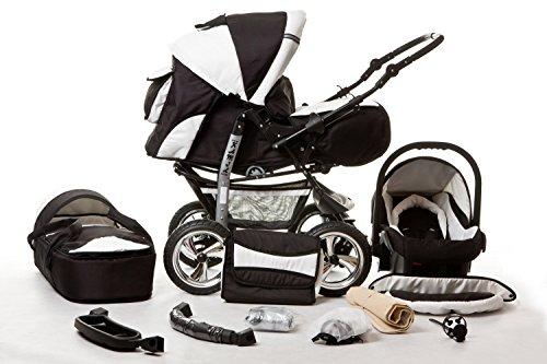 Neu Kombi Kinderwagen 3in1 Pram Poussette Sportsitz Babyschale Autositz Buggy