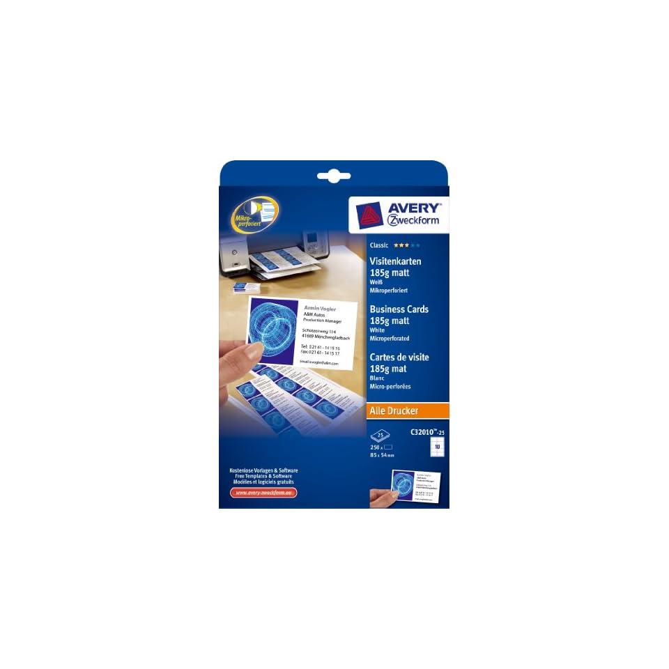 Avery Zweckform 3490 25 Blatt Universal Etiketten Weiß