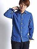 (シップスジェットブルー) SHIPS JET BLUE JB:CONFORT PTN SHIRT 121150253 Blue2 日本 L-(日本サイズL相当)