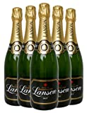 Lanson Black Label Brut Champagne - 6 x 750ml