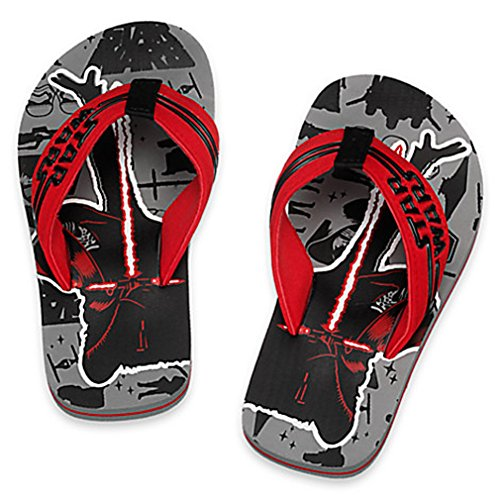 Disney Store Boys Star Wars The Force Awakens Flip Flops Size 13/1 Grey (Flip Flops Kids compare prices)