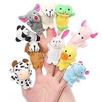 Kuhu Creations Set Of 10 Animal Finger Puppet