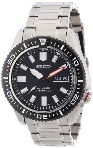 Seiko Herren-Armbanduhr XL Divers Analog Automatik Edelstahl beschichtet SKZ325K1