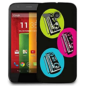 Snoogg Boombox Colourful Case Cover For Motorola G / Moto G