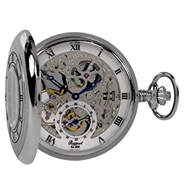 Rapport Pocket Watch PW45 Silver Tone Double Half Hunter