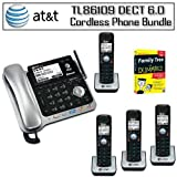 AT&amp;T TL86109 DECT 6.0 2-line Bluetooth Cord/Cordless Phone System Includes Four Expandable Handsets Bundle