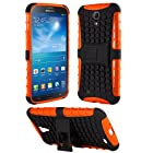 HHI Dual Armor Composite Case with Stand for Samsung Galaxy Mega 6.3 - Orange/Black (Package include a HandHelditems Sketch Stylus Pen)