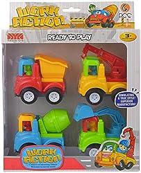 Comdaq Set of 4 Construction Vehicles