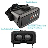 VR Glasses, Fuleadture 3D Virtual Reality Headset Video Movie Games Google Cardboard for iPhone 6s Plus and Other 4.0 - 6.0 inch Smartphones with Bluetooth Remote Controller