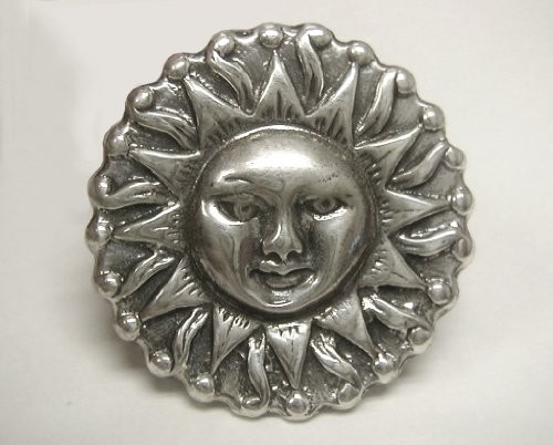 A Magnificent Sun Pendant in Sterling Silver Made in America