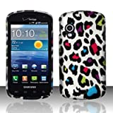 Color Leopard Design Snap On Protector Matte Hard Case for Samsung Stratosphere (SCH-i405) + 4.5 inches Screen/Lens Cleaning Cloth