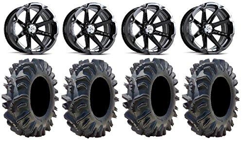 "Bundle - 9 items: MSA Black Diesel 15"" ATV Wheels 34"" Terminator Tires primary"