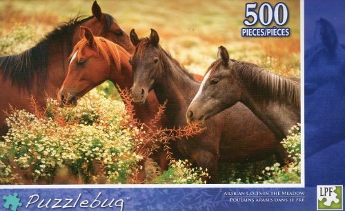 Arabian Colts in the Meadow - Puzzlebug - 500 Pc Jigsaw Puzzle - NEW