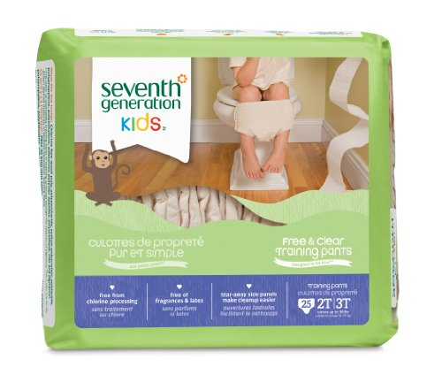 Seventh Generation Training Pants 2T-3T, 25 Count