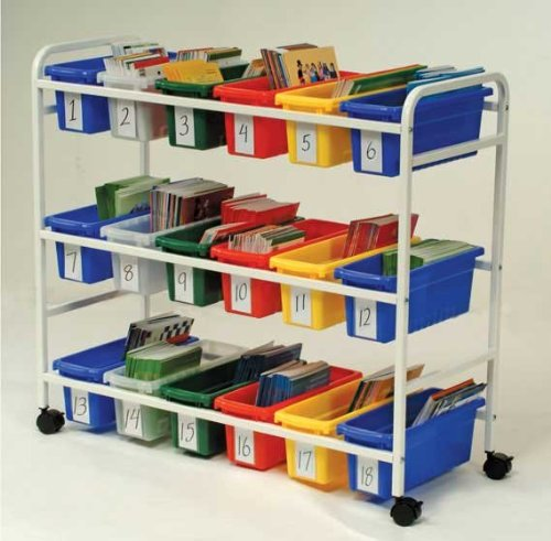Copernicus BB005-18-1 Leveled Reading Book Brwsr with 18 Small tubs and Book Displays