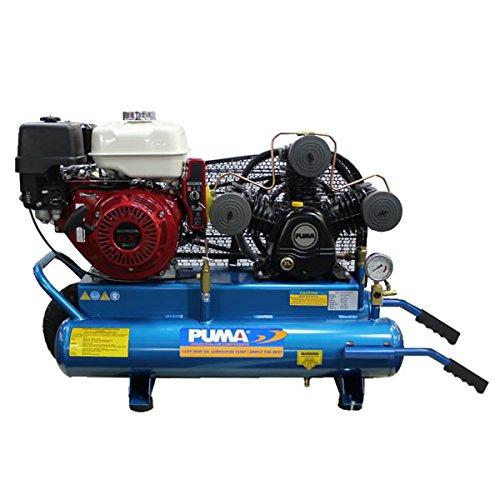 Puma Industries PUK-9030RGE Air Compressor, Single Stage Gas Powered Belt Drive Series, Subaru Engine, 9 hp Running, 135 Maximum psi, 30 gal, 495 lb. (Gas Air Compressor 30 Gallon compare prices)