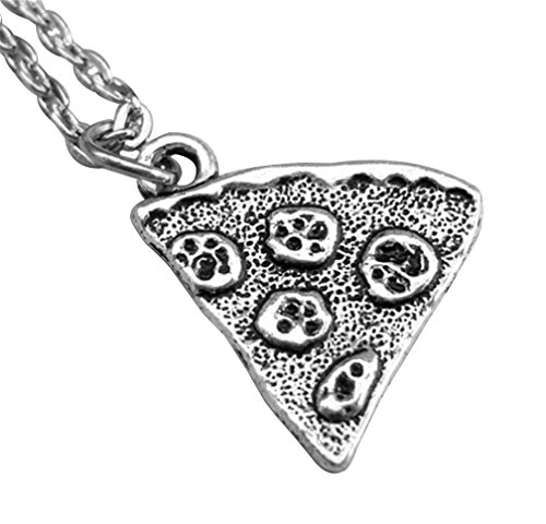 MJARTORIA 1 Piece Antique Silver Color Pizza Slice Friendship Necklace