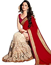 Shyam creation Tamana Net And Georgette Saree(T6)