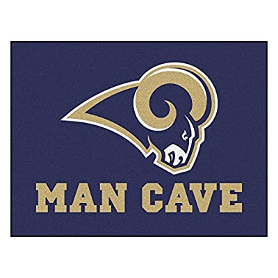 Los Angeles Rams Man Cave All-Star Area Rug Mat