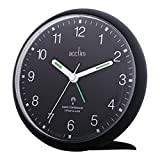 Acctim Analogue Radio Controlled Yale Sweep Clock With Snooze And Light New