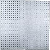 Triton Products LB18-S Two Stainless Steel LocBoard Square Hole Pegboards 18-Inch W by 36-Inch H by 1/2-Inch D with Wall Mounting Hardware