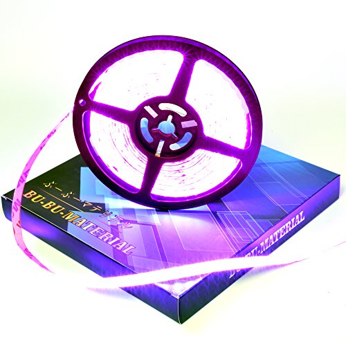 ぶーぶーマテリアル LEDテープ ピンク 600連 高輝度 5m 紫 パープル 12V 白ベース 防水 イルミネーション 電装品 【カーパーツ】