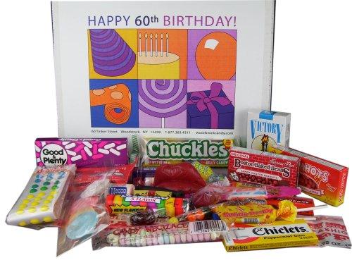 60th Birthday Gift Basket Box of Retro Candy - Jr.