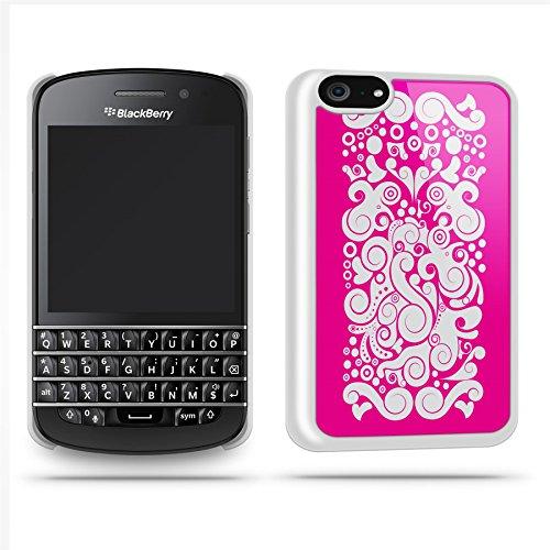 Black Pattern Pink White Case Shell Cover Phone Case Shell For Blackberry Q10 - White