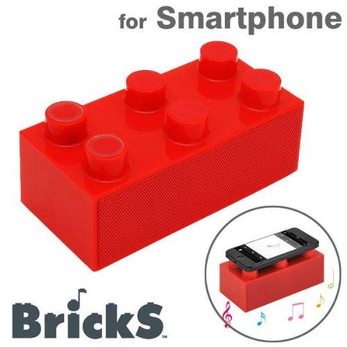 センチュリー スマートフォンスピーカー(レッド)CENTURY BrickS BRICKS-RD