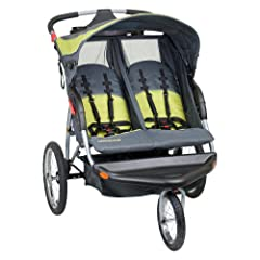 Baby Trend Expedition Swivel Double Jogger Baby Jogging Stroller - Carbon by BaTrend