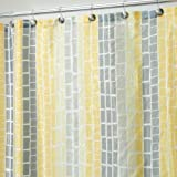 Nceonshop(TM) InterDesign Moxi Fabric Shower Curtain, Yellow and Gray, 72-Inch by 72-Inch New