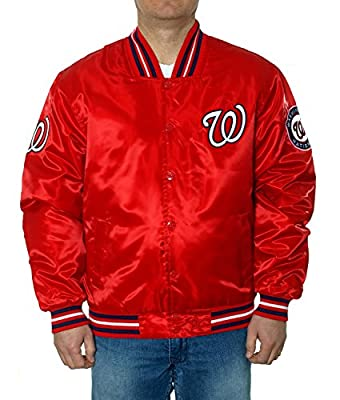 Washington Nationals Satin Red Jacket