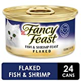 Purina Fancy Feast Wet Cat Food, Flaked Fish & Shrimp Feast - (24) 3 oz. Cans