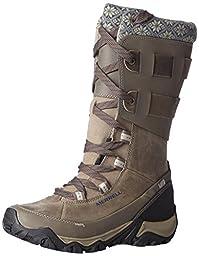 Merrell Women\'s Polarand Rove Peak Waterproof Winter Boot,Boulder,8 M US