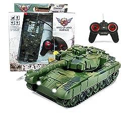 360 Degree Remote Control Battle Tank (Green)