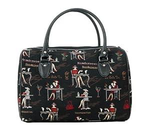 women's canvas weekend travel duffle bag / Coffee, Tea or Me?