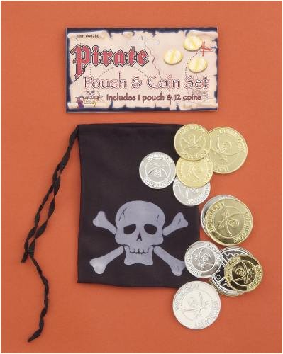 Pirate or Renaissance Costume Accessory Pouch and Coin Set