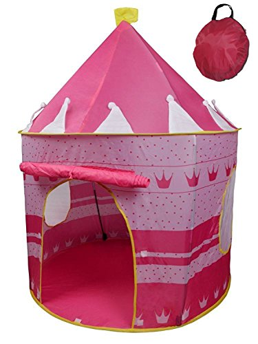 Crown Princess Castle Girls Outdoor Tent Pink Indoor Play House by POCO DIVO