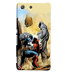 Omnam Heros Figting Designer Back Cover Case for Sony Xperia M5