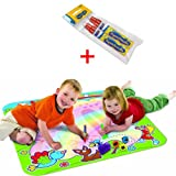 Tomy 6189 + 71841 Rainbow Aquadraw Drawing Mat with 2 Aquadoodle Water Pens