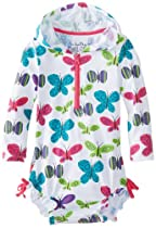 Hatley - Baby Baby-Girls Infant Rash Guards Ditsy Butterflies, White, 18-24 Months