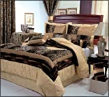 51anyLM 5cL. SL160  7 Pieces Leopard Print Patchwork Comforter (90x92 in Inch) Set/ Bed in a bag Queen Size