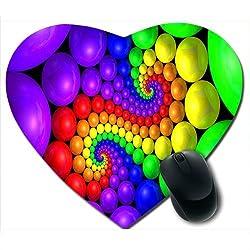 Awwsme Colourful Ball In Heart Mousepad