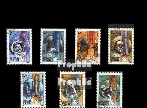 Ungarn 3557A-3563A (kompl.Ausg.) gestempelt 1982 Weltraumfahrt (Briefmarken für Sammler)