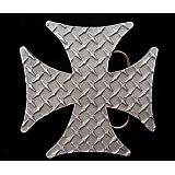 Diamond Plate Iron Cross Belt Buckle
